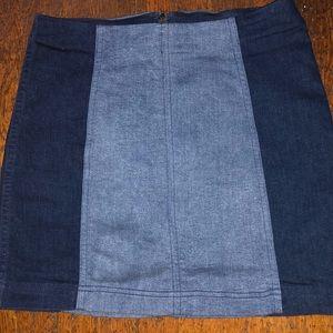 Free People two tone mini skirt